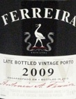 FERREIRA LATE BOTTLED VINTAGE 2009